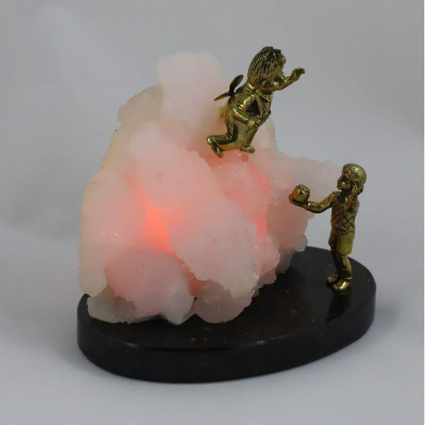 Малыш и Карлсон, розовый манганокальцит, подсветка